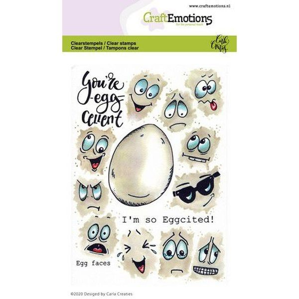 Craft Emotions Clearstamps Egg Faces