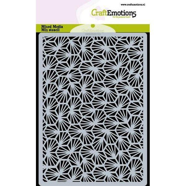 Craft Emotions Stencil A6 Honeycomb Rays