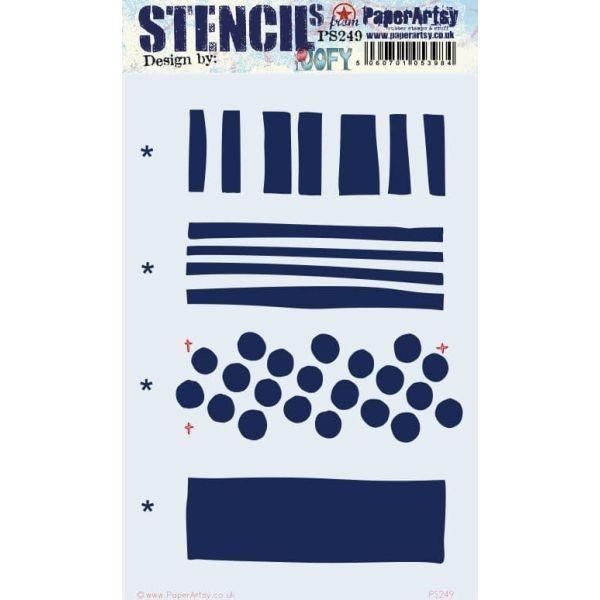 Paper Artsy Large Stencil 249 by JOFY