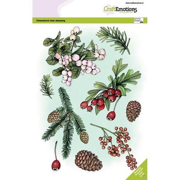 Craft Emotions Clearstamps A5 Floral Christmas No. 2