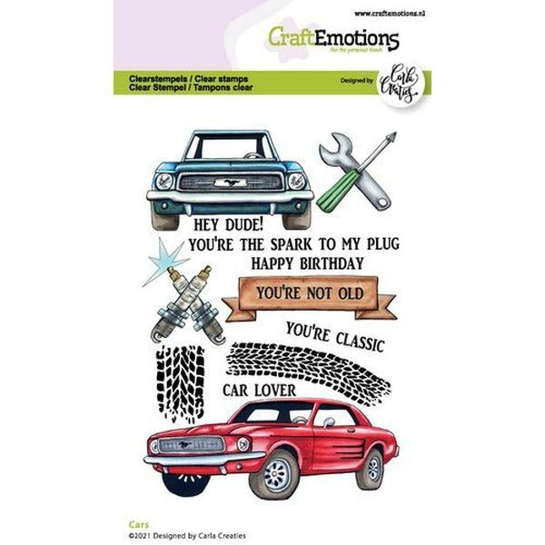 Craft Emotions Clearstamps Cars