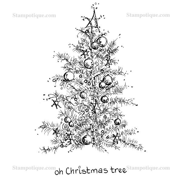 Stampotique Originals Oh Christmas Treew/Words on Side