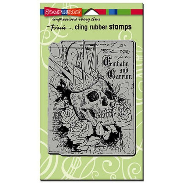 Stampendous Clingstamps Crowned Skull