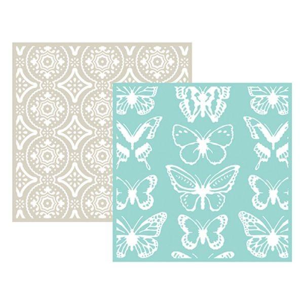 WeR Memory Keepers Embossingfolder 6x6 Butterfly