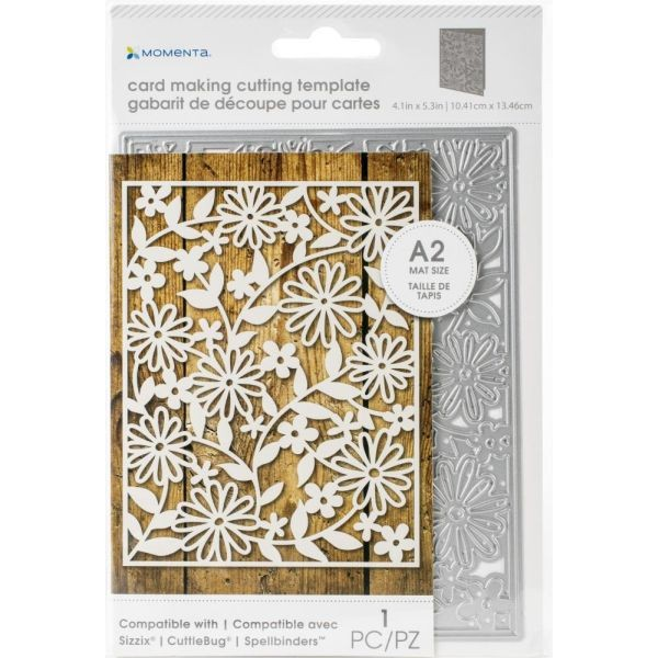Momenta Die Card Mat Intricate Flowers