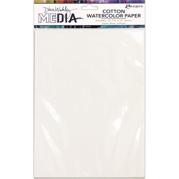 Dina Wakley Media Cotton Watercolor Paper Pack 8.5x11