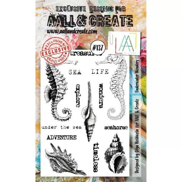 AALL & Create Clearstamps A6 No. 137 Underwater Wonders