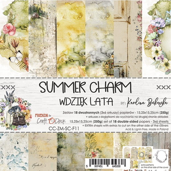 Craft o´Clock Summer Charm A Set of Papers 6x6