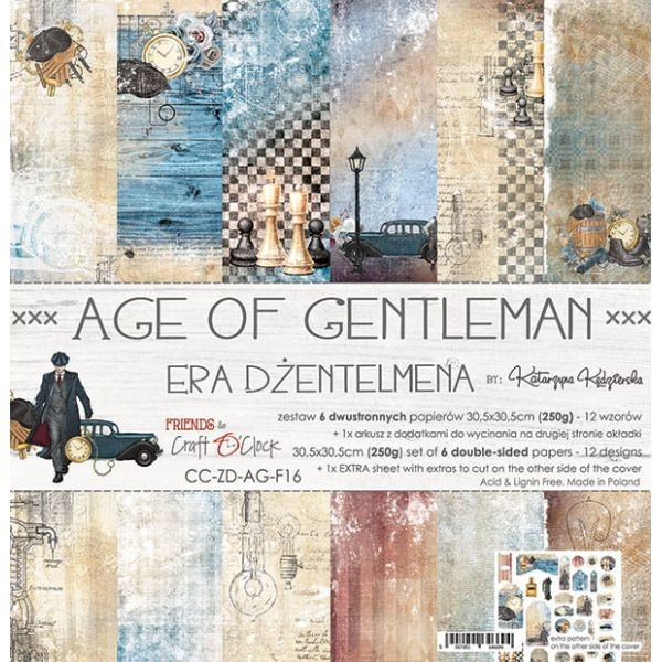 Craft o´Clock Age of Gentleman A Set of Papers 12x12