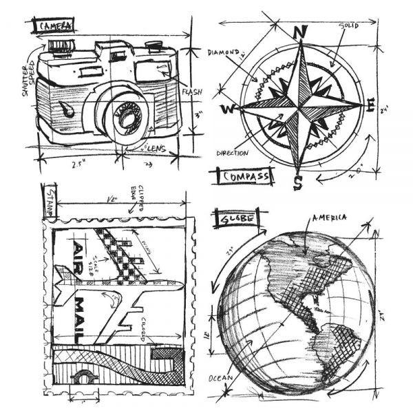 Tim Holtz Travel Blueprint