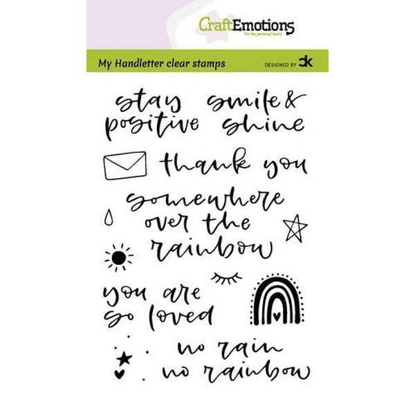 Craft Emotions Clearstamps Handlettering Rainbow I