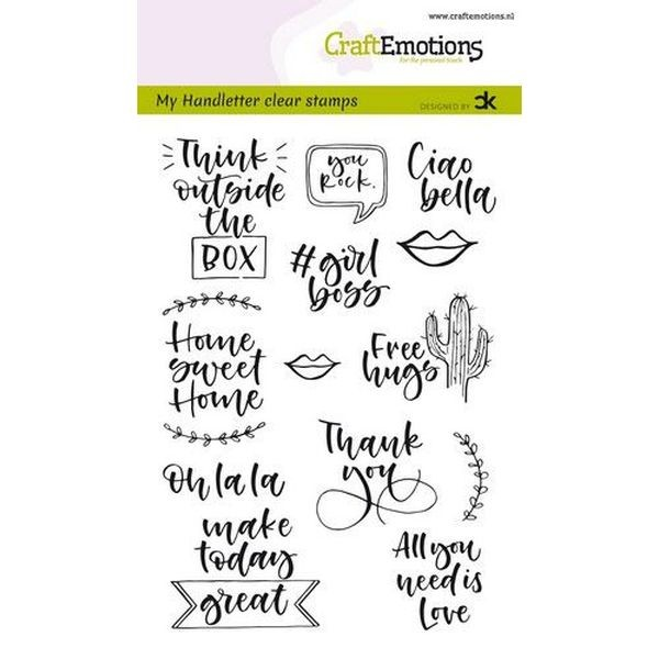 Craft Emotions Clearstamps Handlettering Quotes II