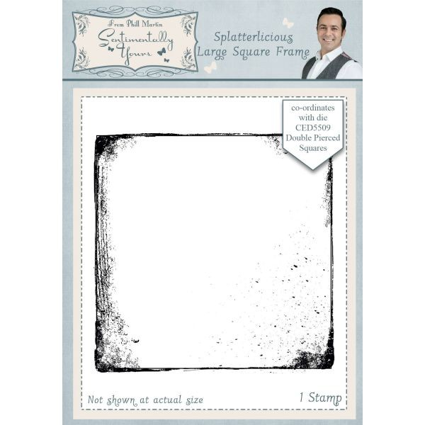 Sentimentally Yours Pre-Cut Rubberstamp Spalletrlicious Large Square Frame