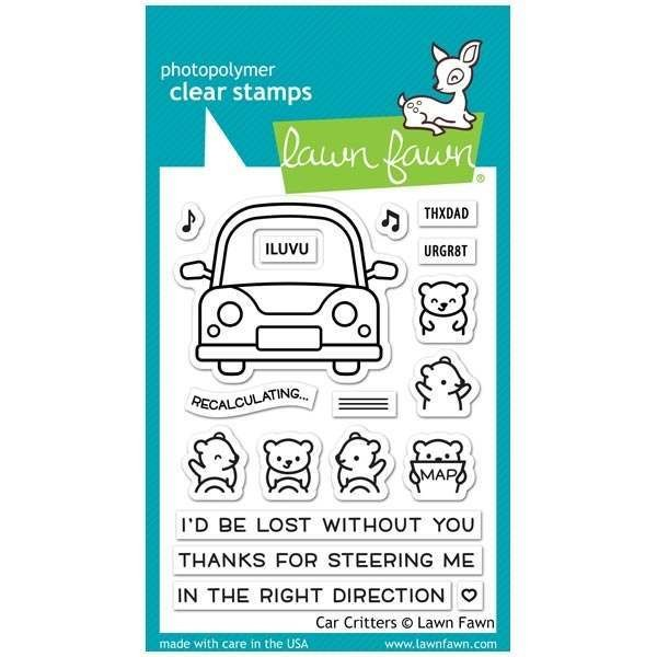 Lawn Fawn Clearstamps 3x4 Car Critters
