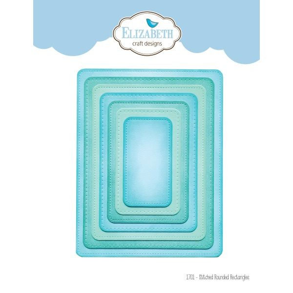 Elisabeth Craft Designs Die Stitched Rounded Rectangle