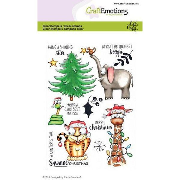Craft Emotions Clearstamps Savanne Christmas