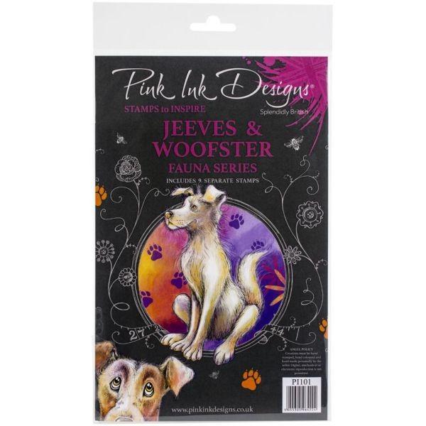 Pink Ink Designs Clearstamp Set Jeeves & Woofster