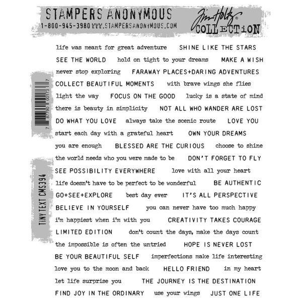 Tim Holtz Tiny Text