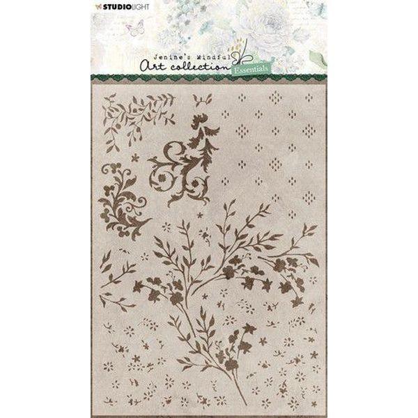 Studio Light Stencil A5 Jenine´s Essentials Floral No. 43