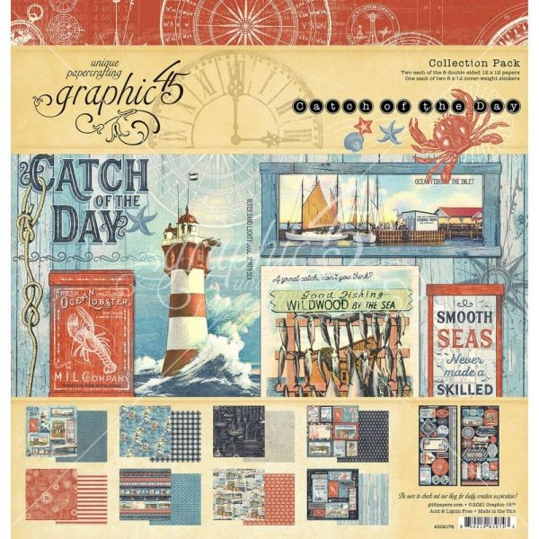 Graphic 45 Catch of the Day Collection Pack 12x12