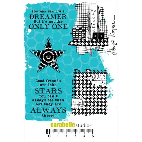 Carabelle Studio Tampon Art Stamp A6 Reach for the Stars
