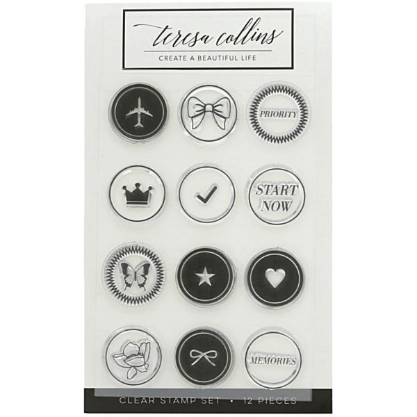 Teresa Collins Clearstamp Set Bow