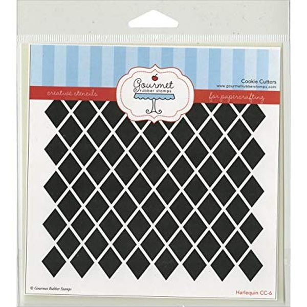 Gourmet Rubber Stamps Stencil Harlequin
