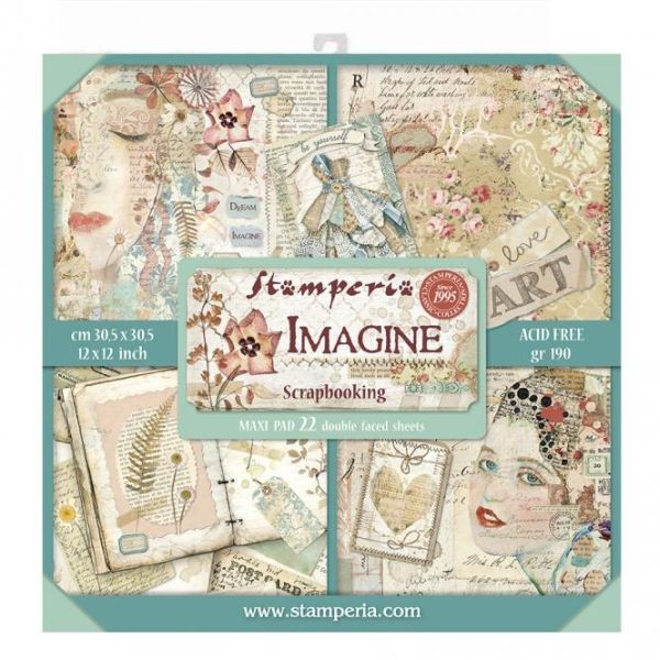 Stamperia Paper Pack Imagine 12x12