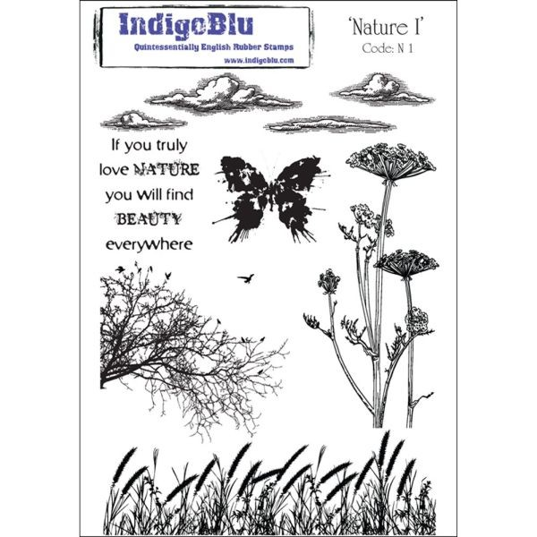 Indigo Blu Clingstamps Nature No. 1