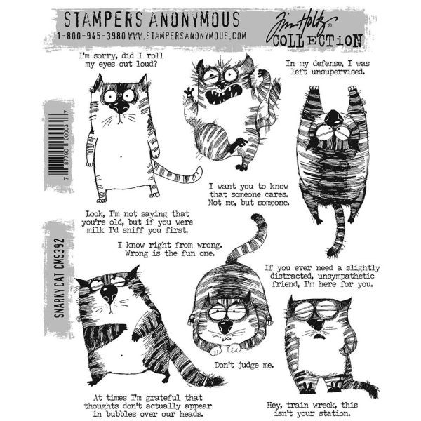 Tim Holtz Snarky Cat