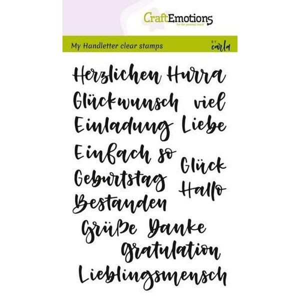 Craft Emotions Clearstamps Handlettering DE div. Texte