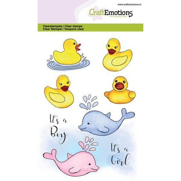 Craft Emotions Clearstamps Bath Ducks Birth