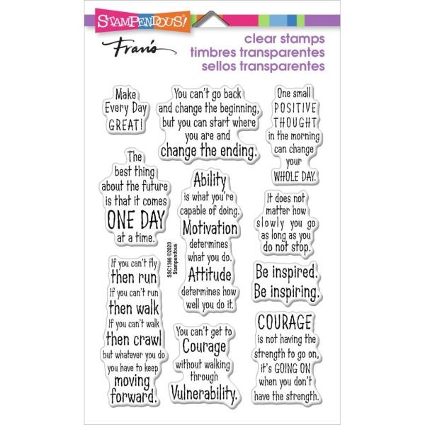 Stampendous Fran´s Clearstamps Courage Quotes