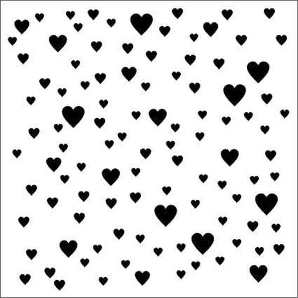 13arts Mixed Media Stencil Hearts