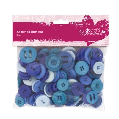 Papermania Assorted Buttons Blue
