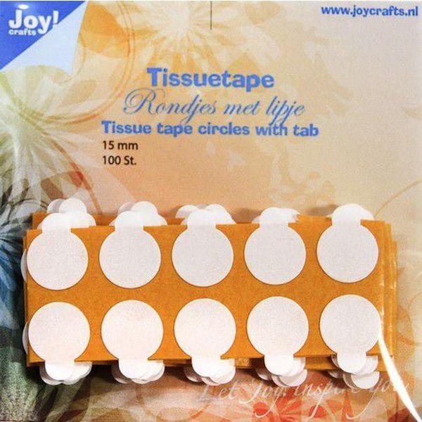 Joy! Crafts Tissuetape Circles w/Pull Tab 15mm