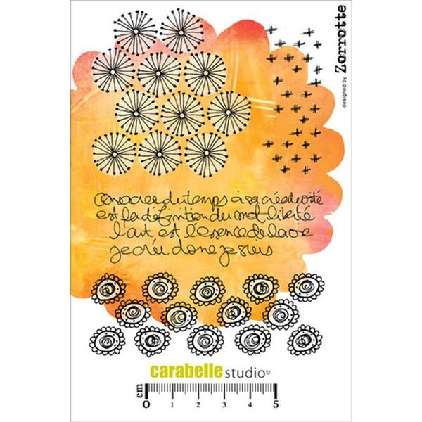 Carabelle Studio Tampon Art Stamp A6 Je cree donc Je Suis by Zorotte