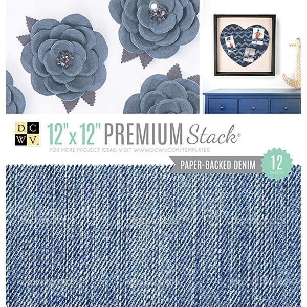 DCWV Specialty Stack Paper-Backed Denim Fabric 12x12