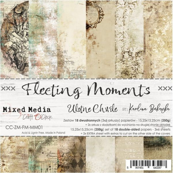 Craft o´Clock Fleeting Moments A Set of Papers 6x6