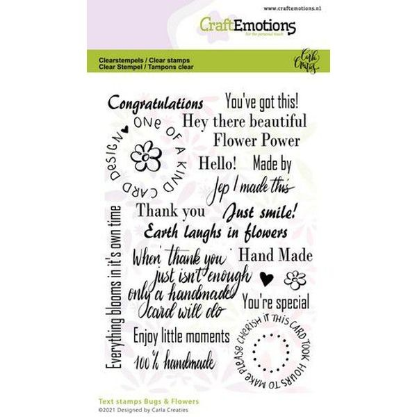 Craft Emotions Clearstamps Bugs & Flowers Text