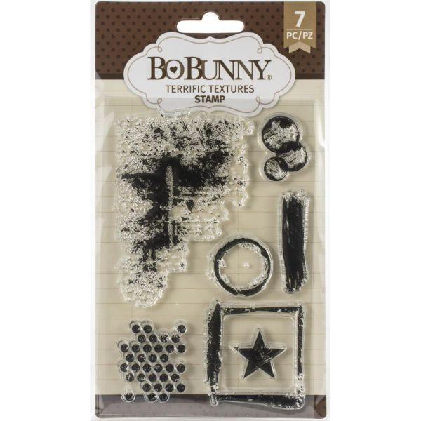 BoBunny Press Essentials Stamps Terrific Textures