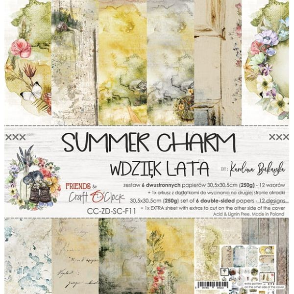 Craft o´Clock Summer Charm A Set of Papers 12x12