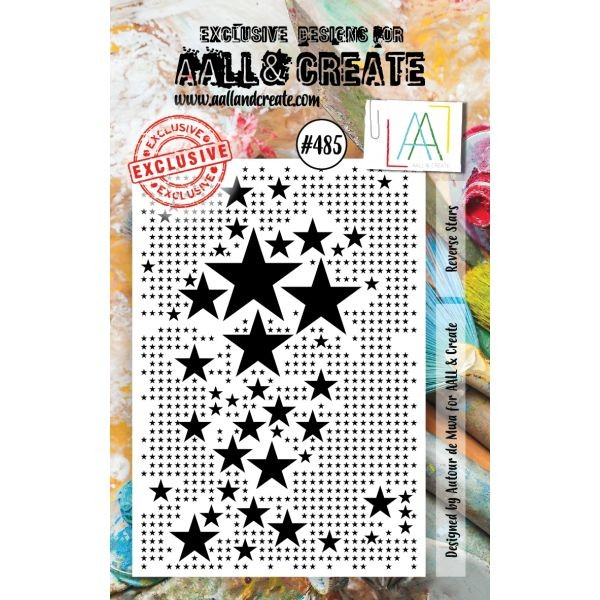 AALL & Create Clearstamps A7 No. 485 Reverse Stars