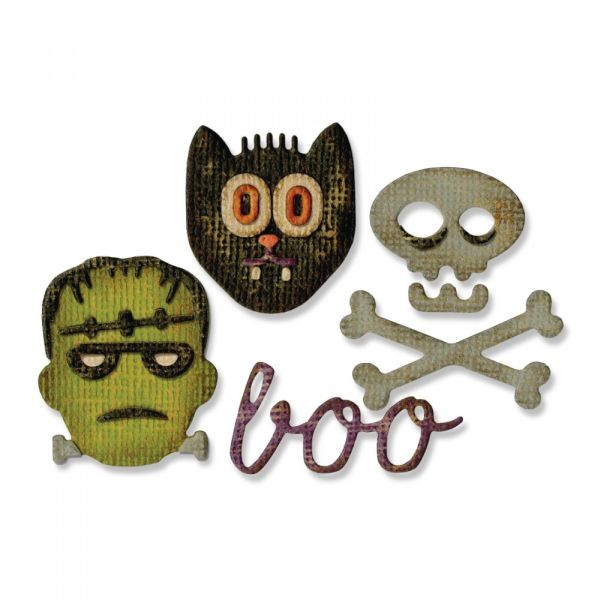 Sizzix Sidekick Thinlits Dies w/Embossingfolder Tim Holtz Halloween