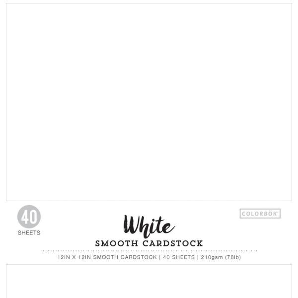 Colorbök Smooth Cardstock 12x12 White