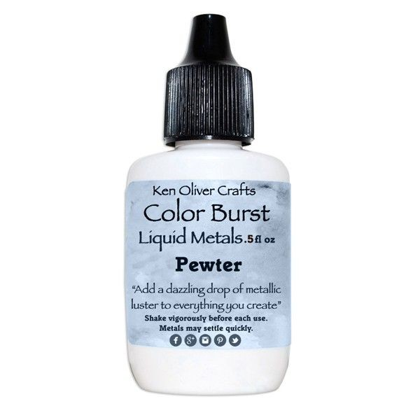 Ken Oliver Crafts Color Burst Liquid Metals Pewter